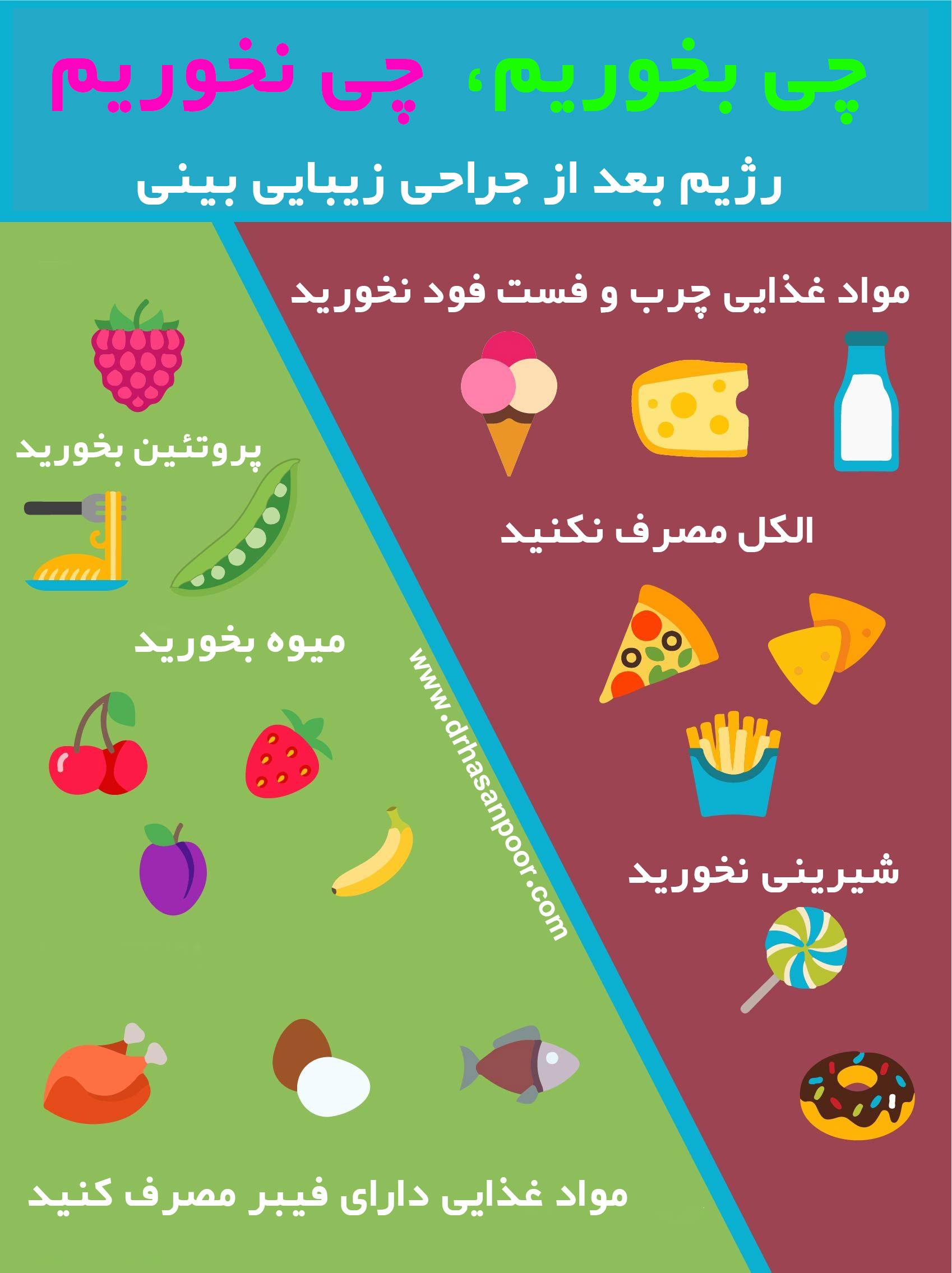 مواد غذایی مناسب بعد از عمل بینی